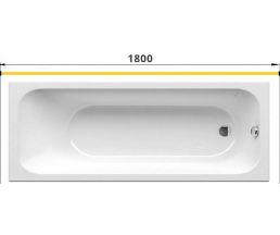 Карниз для ванны прямой 1800 труба Д=25