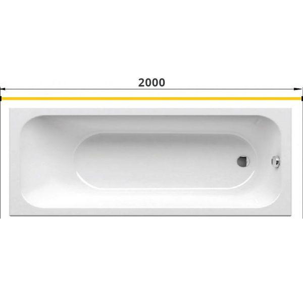 Карниз для ванны прямой 2000 труба Д=25