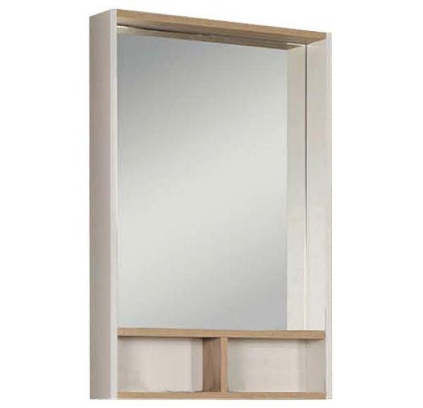 Йорк 60 зеркало-шкаф 1A170102YOAD0 белый/Дуб сонома