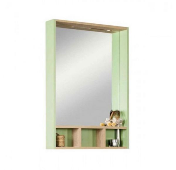 Йорк 60 зеркало-шкаф 1A170102YOAJ0 салатовый /Дуб сонома