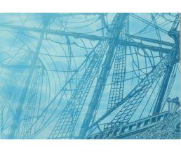 Лазурь панно Корабль-4  25*35