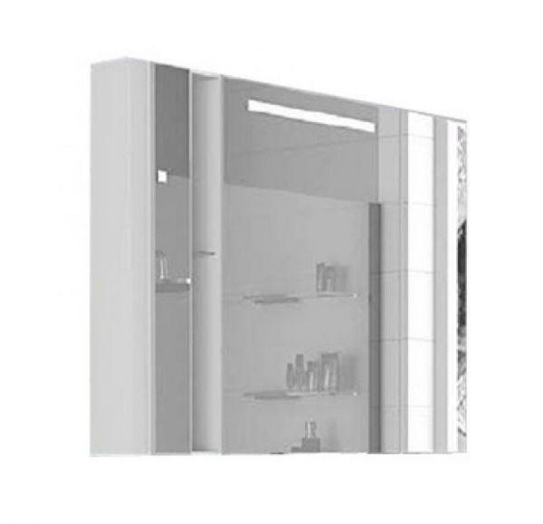 Марко 100 Шкаф-зеркало со светильником белый 1A190402MO010